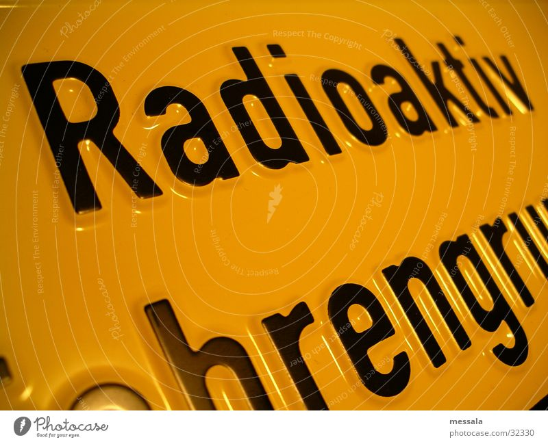 Signs and labeling Energy industry Dangerous Threat Protection Science & Research Laser Atoms Radioactivity