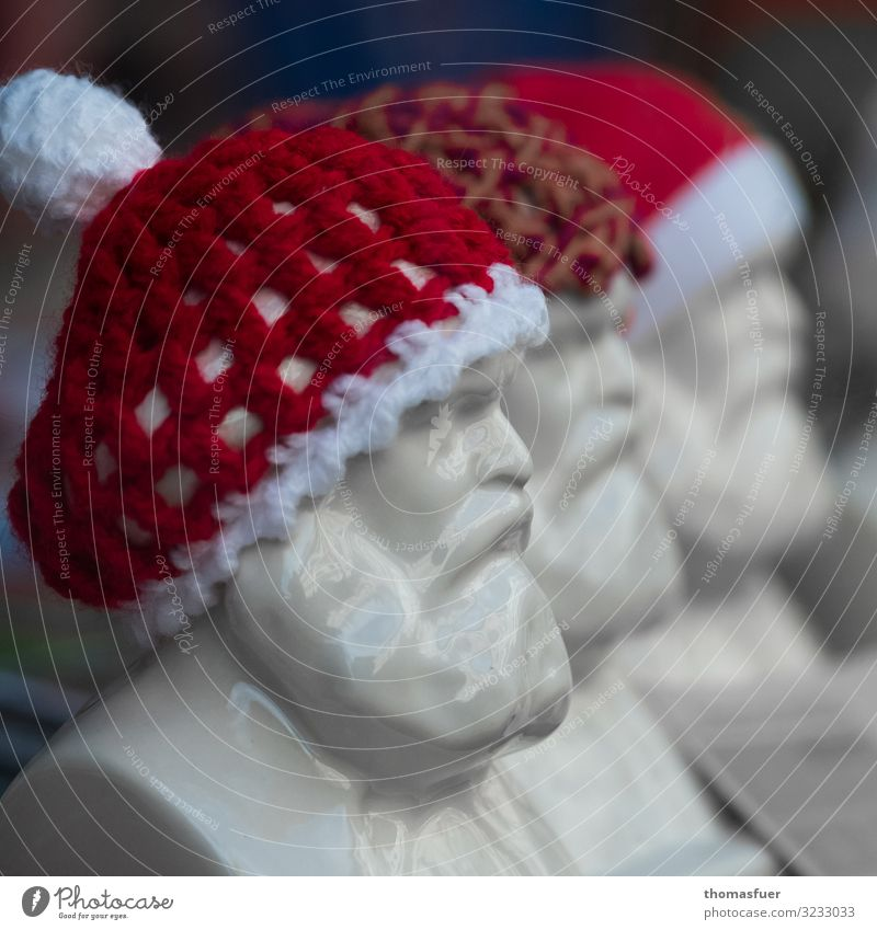 Karl Marx as Santa Claus Face Decoration Christmas & Advent Masculine Male senior Man Head 1 Human being 60 years and older Senior citizen Art Sculpture