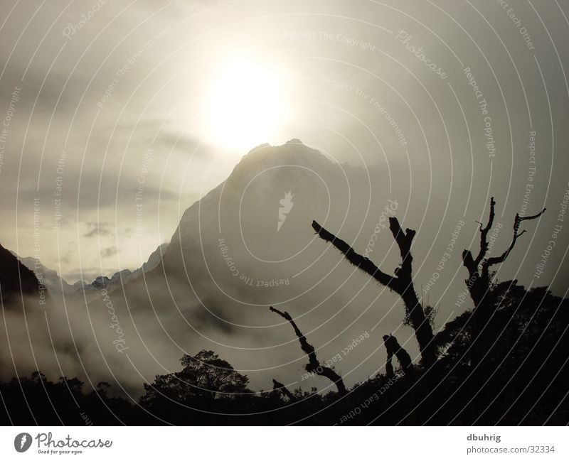 Sun Mountain Fog New Zealand