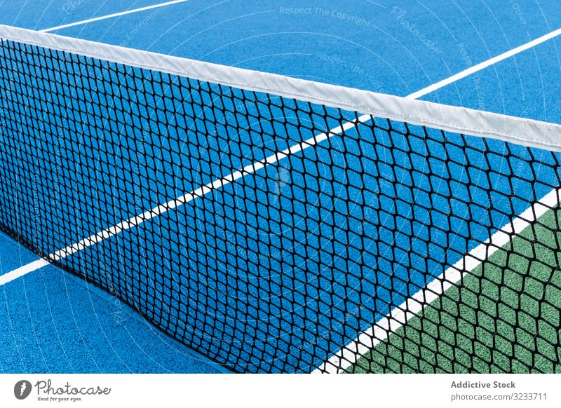 Blue Tennis court no people color abstract active activity athletic background blue colorful competition concept empty space exercise game health healthy