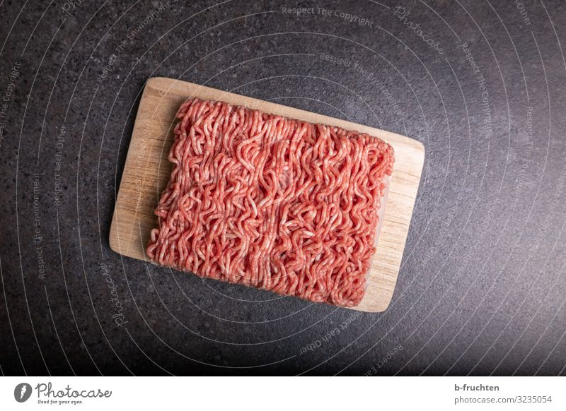 minced meat Food Meat Nutrition Healthy Eating Kitchen Select To enjoy Fresh Minced meat Chopping board Beef Pork Interior shot Studio shot Deserted
