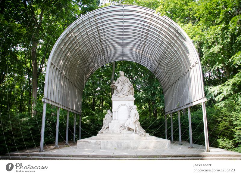 Protection for Richard-Wagner Sightseeing Sculpture Summer Beautiful weather Tree Park Berlin zoo Canopy Monument Sit Elegant Firm Historic Original Moody Honor
