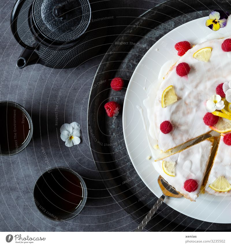 White Red Black Food Eating Yellow Blossom Sweet Delicious Beverage Cake Organic produce Vegetarian diet Crockery Tea Plate