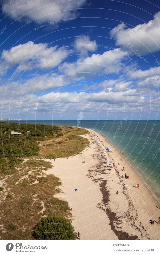 Aerial view of Bill Baggs Cape Florida State Park Beach Ocean Nature Landscape Coast Aircraft Blue Protection aerial beach view aerial waterfront view