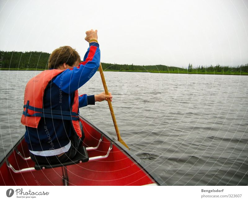 Human being Nature Vacation & Travel Youth (Young adults) Summer Relaxation Calm Life Sports Healthy Swimming & Bathing Lake Masculine Leisure and hobbies