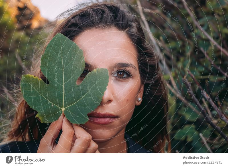 Resting lady walking in nature and enjoying in leaf woman summer fig lifestyle young female travel beauty countryside forest vacation adventure hiking holidays