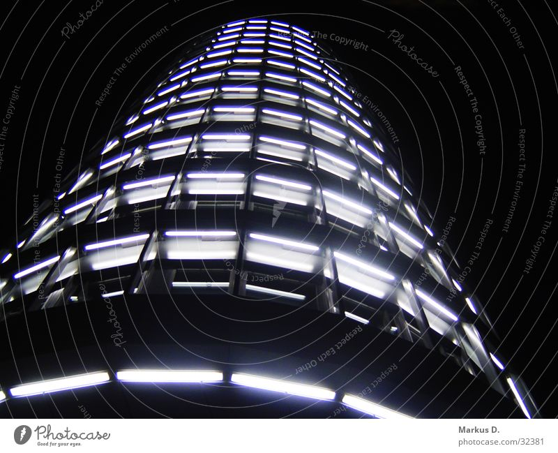 Vattenfall Tower Light Night Building High-rise Architecture Skyline Perspective