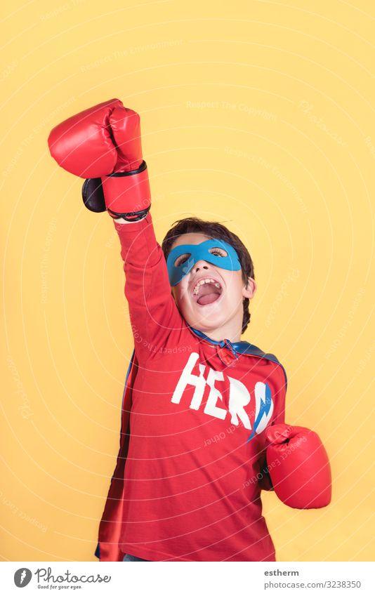 superhero, Portrait of boy in superhero costume Lifestyle Joy Happy Playing Adventure Feasts & Celebrations Carnival Birthday Success Human being Child