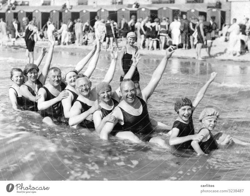 Bathing fun 100 years ago Baltic Sea Vacation & Travel Twenties Leisure and hobbies Grandparents Former Past Freedom Ocean Joy Exuberance
