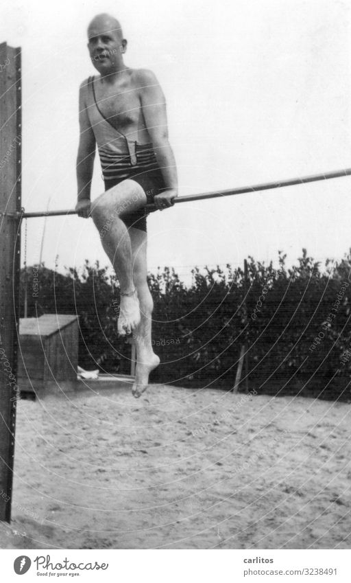 Grandpa's doing gymnastics... Twenties Grandfather Past Black & white photo weimar republic Gymnastics Sports