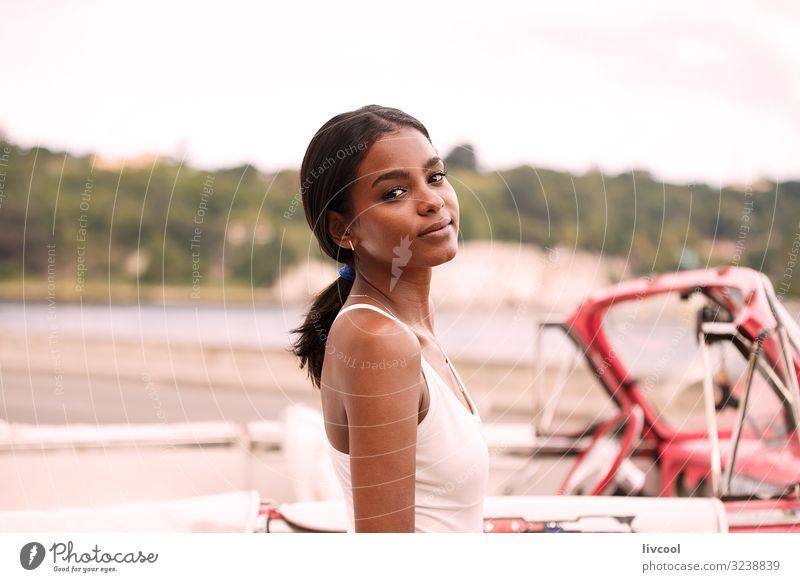 young cuban and pink almendron , havana Woman Human being Youth (Young adults) Young woman Beautiful Landscape Joy Black 18 - 30 years Face Street Eyes