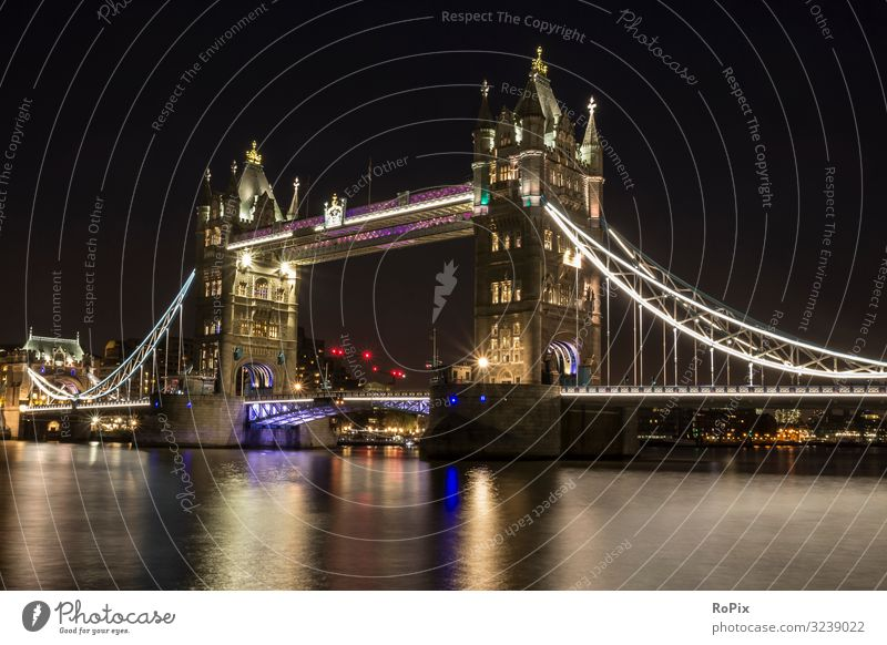 Night in London. Lifestyle Style Harmonious Calm Vacation & Travel Tourism Sightseeing City trip Work and employment Economy Trade Logistics Craft (trade) Art