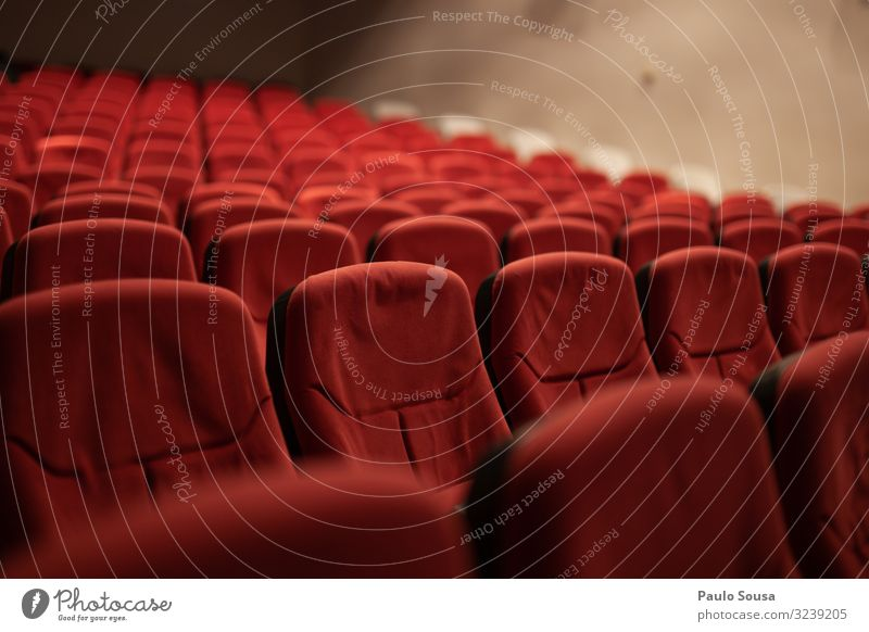 Empty seats Theatre Audience space Copy Space Chair Row of seats Places Concert Free Seating Colour photo Shows Seating capacity Row of chairs Many Multiple