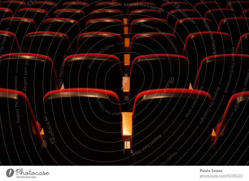 Empty seats in a theatre Lifestyle Free Many Red Esthetic Creativity Theatre Movie theater seat Seat Seating Seating capacity Row of seats Row of chairs Chair