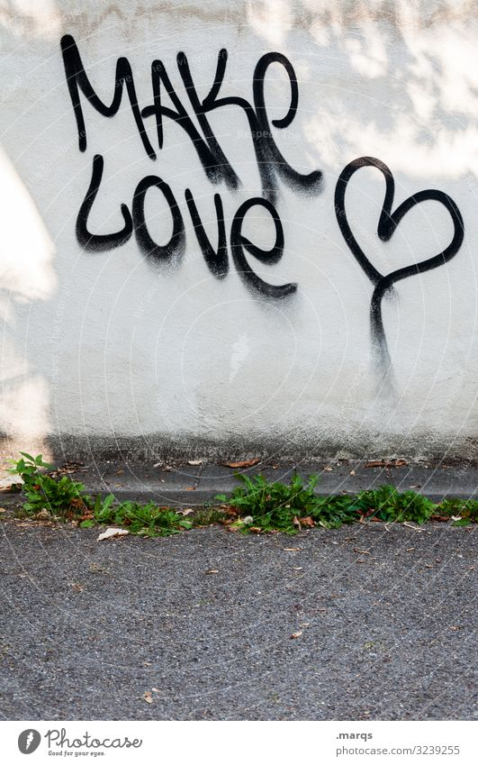 Street Wall (building) Love Wall (barrier) Characters Communicate Heart Sign Peace