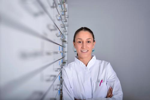 pharmacist chemist woman standing in pharmacy drugstore Shopping Happy Health care Medication Work and employment Doctor Business Human being Young woman