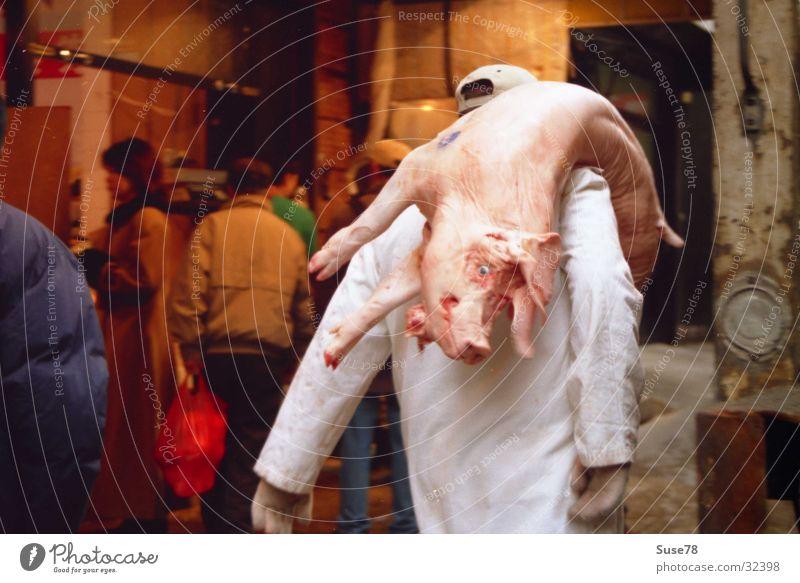 Nutrition Death Craftsperson Meat Downtown Markets Swine New York City Butcher Chinatown Dead animal