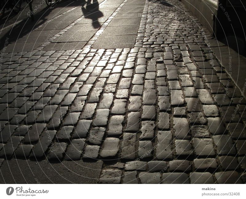 Cobblestones and Alien Copenhagen Leisure and hobbies Shadow Street Stone Evening