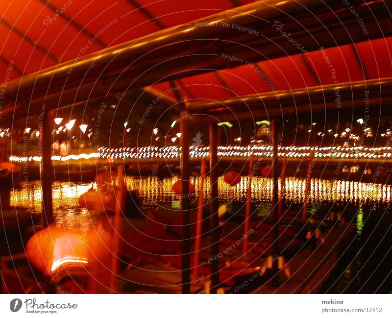 Water Red Watercraft Roof Club Denmark Amusement Park Copenhagen Tivoli