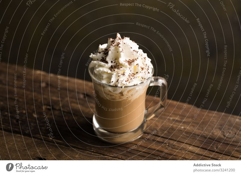 Cups of tasty hot coffee drink on wooden table cup foam beverage mug delicious froth refreshment sweet flavor saucer aromatic caffeine addicted cappuccino latte