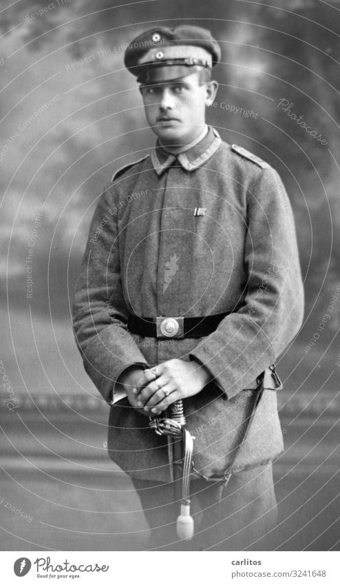 Man Germany Dream Past Belief Posture Memory Pride Patriotism Uniform Sword Twenties