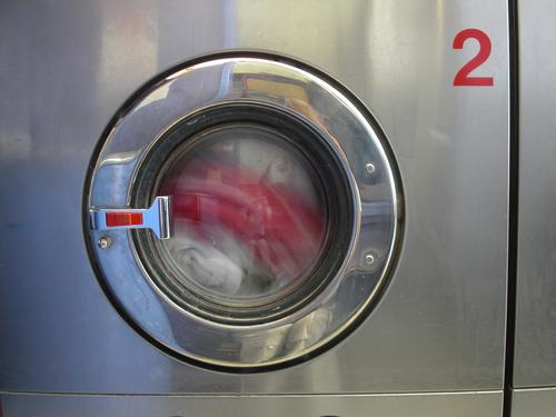 washing machine Washer Red White Typography Round Steel Porthole Laundry Clothing Detergent Reflection Gray Industry Circle Water Dirty