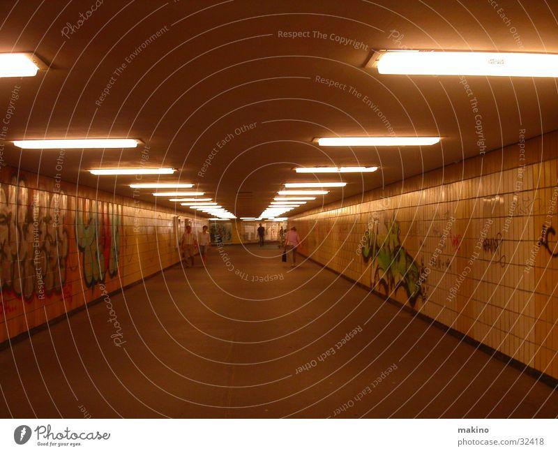 Street Dark Berlin Graffiti Architecture Concrete Transport Tunnel Underground Pedestrian Underpass