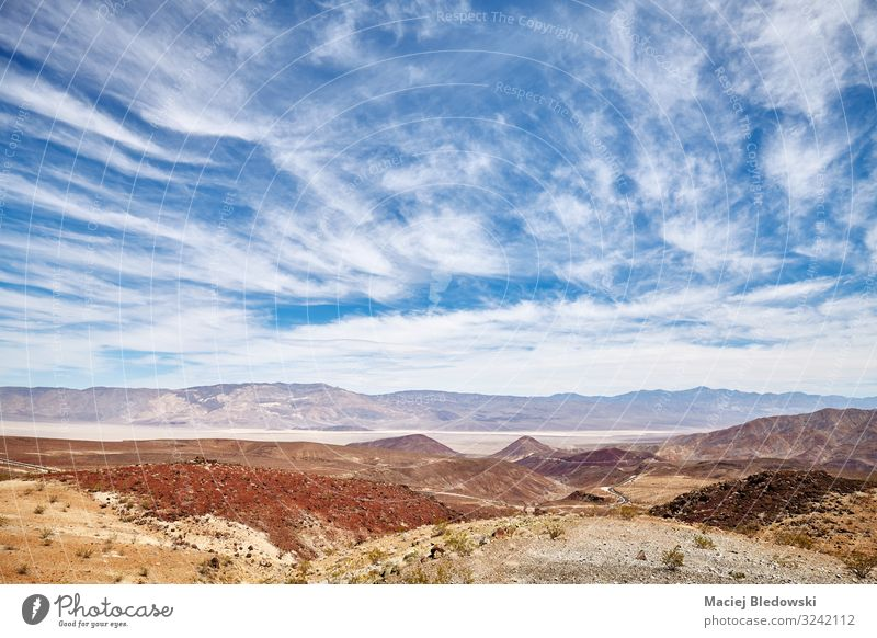 Scenic cloudscape over the Death Valley, US. Vacation & Travel Trip Adventure Far-off places Freedom Expedition Summer Mountain Hiking Nature Landscape Sky