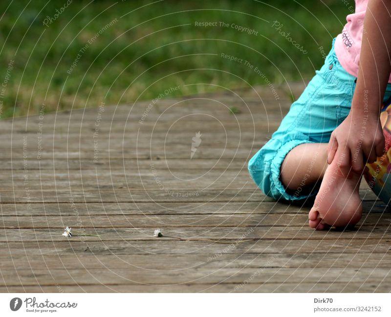 Child Human being Vacation & Travel Nature Summer Girl Legs Wood Natural Feminine Meadow Grass Tourism Garden Freedom Feet