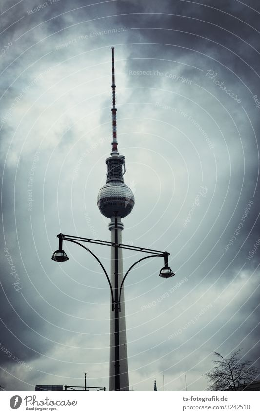 Sky Town Clouds Winter Architecture Autumn Berlin Building Germany Communicate High-rise Technology Telecommunications Future Tower Tourist Attraction