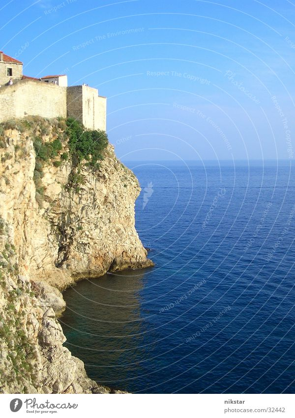 Nature Water Old Sky Ocean Stone Landscape Waves Rock Europe Decline Historic Ruin Cliff Fortress