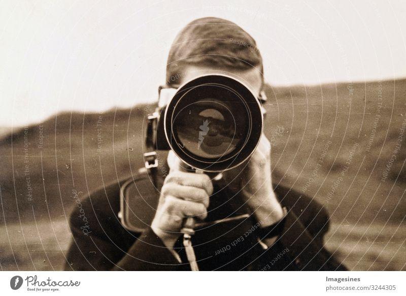 Human being Man Adults Masculine Retro Technology Future Photography Camera Nostalgia Video camera Photographer Advancement Object photography Objective
