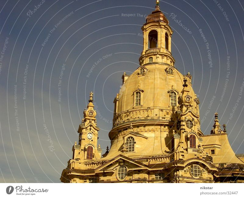 the frauenkirche at dresden Culture Monument Renewal Remember Memory Building Holy Religion and faith House of worship Sandstone Domed roof Historic Art