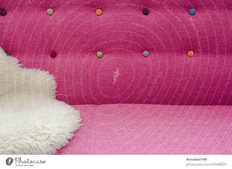 Close up background of pink color soft velvet Luxury Style Design Decoration Furniture Sofa Fashion Cloth Modern Retro Soft Pink Safety (feeling of) Comfortable