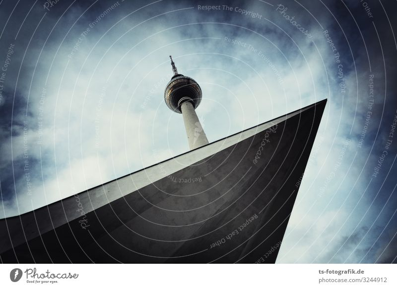 Berlin television tower wants to jump from 50 m board Technology Entertainment electronics Telecommunications Downtown Berlin Alexanderplatz Germany GDR