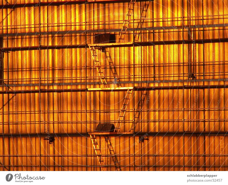 simply golden House (Residential Structure) Sunset Grating Architecture Ladder Gold