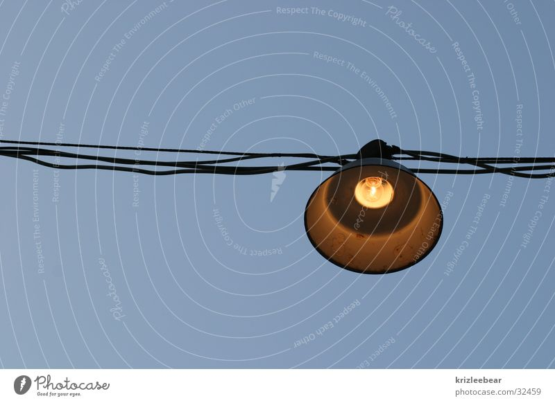 and there was light Lamp Outdoor facilities Beer garden Wire Leisure and hobbies rope system Exterior shot