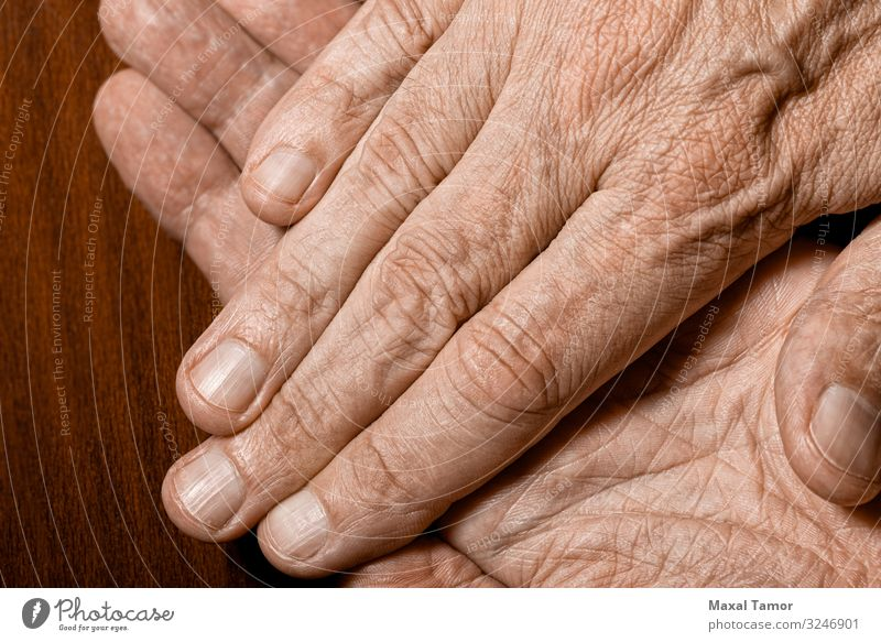 Man's hands detail Beautiful Body Skin Human being Adults Hand Fingers Wood Old Dark Natural Strong Power Colour action background care Caucasian