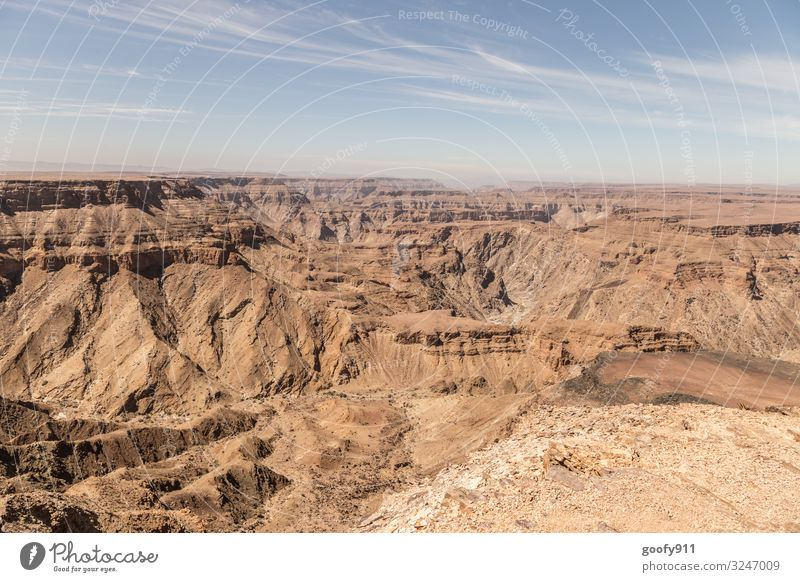 Fish River Canyon / Namibia Vacation & Travel Tourism Trip Adventure Far-off places Freedom Safari Expedition Environment Nature Landscape Earth Sand Sky Clouds
