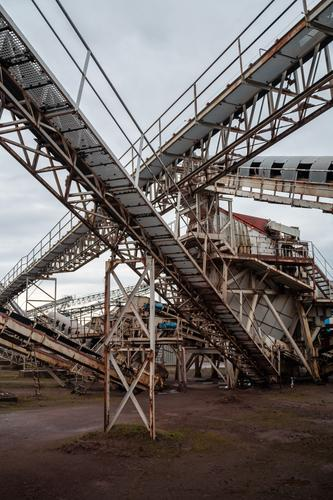 gravel plant Work and employment Profession Workplace Factory Economy Industry Logistics Construction site Company Machinery Construction machinery Technology