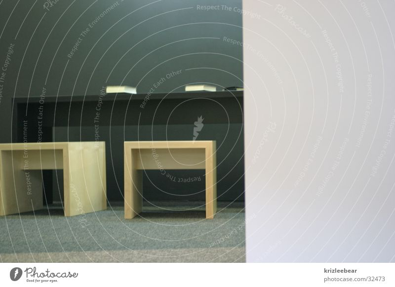 Black Wall (building) Wood Gray Book Sit Table Empty Reading Chair Education Desk Trade fair Exhibition Impersonal