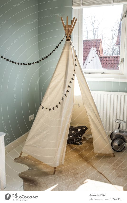 Children's Teepee tent, play tent for children, Lifestyle Style Design Joy Beautiful Playing Flat (apartment) House (Residential Structure) Decoration Furniture