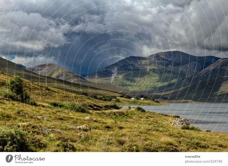 # 764 Scotland Highlands Isle of Skye Dark Weather Rain Clouds Threat Grass Nature Impressive Ocean Fjord House (Residential Structure)