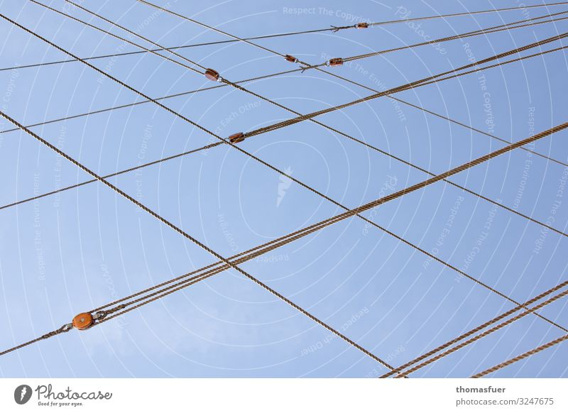 lines, rigging traditional sailers, windjammer Vacation & Travel Trip Summer Summer vacation Sun Aquatics Sailing Rope Sky Cloudless sky Beautiful weather