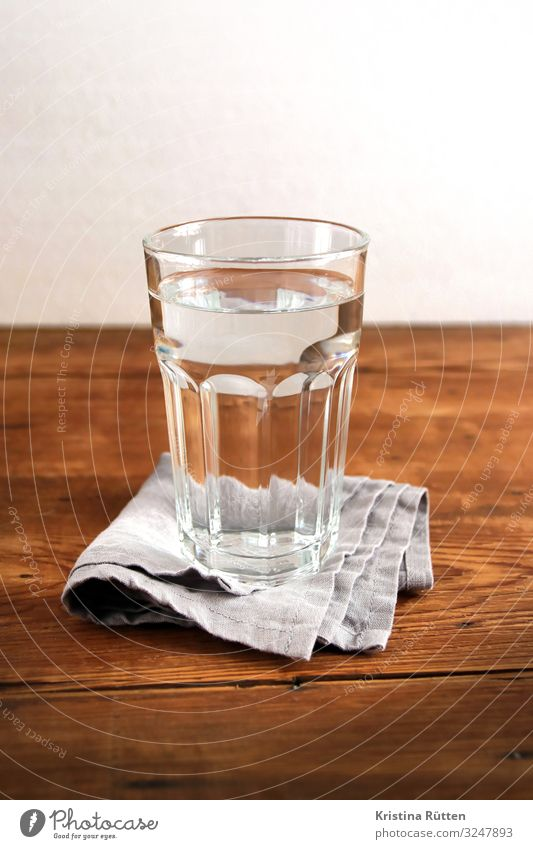 Glass of water Beverage Drinking Cold drink Drinking water Water Fluid Fresh Clean Pure Tumbler tap water Mineral water silent clear Natural Thirst Thirsty