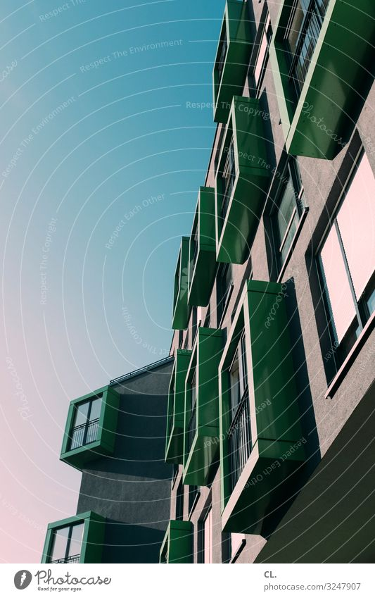 Advent calendar Economy Construction site Sky Cloudless sky Beautiful weather Duesseldorf Germany Town House (Residential Structure) High-rise