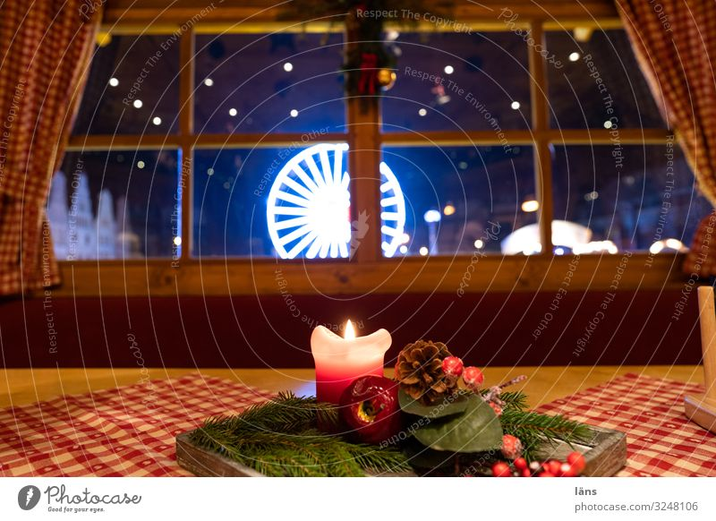 christmas time Christmas & Advent Ferris wheel Trade Religion and faith Candle Decoration Colour photo Deserted