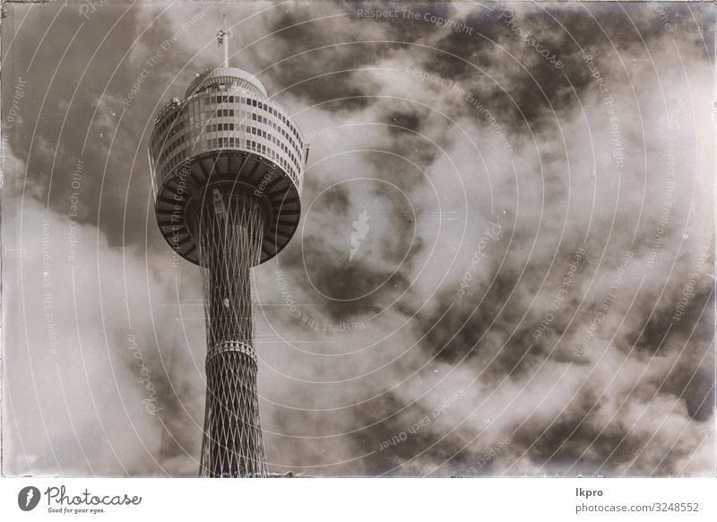 view of the tower eye in the sky Vacation & Travel Tourism Sightseeing Business Sky Clouds Skyline High-rise Building Architecture Communicate Tall New Blue