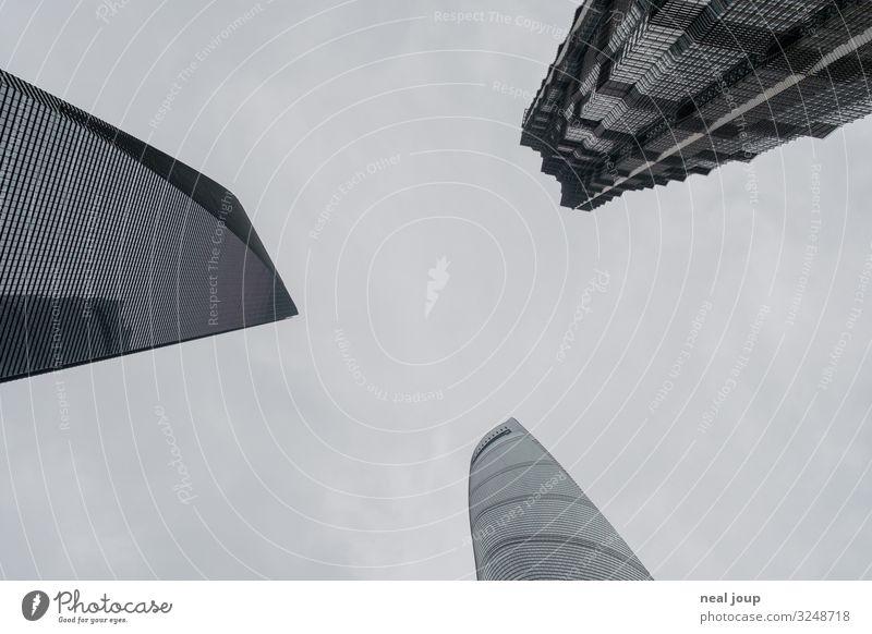 Three brothers Shanghai China Skyline High-rise Tourist Attraction Landmark Jin-Mao Buildings shanghai tower Shanghai World Financial Center Glass Metal Dark