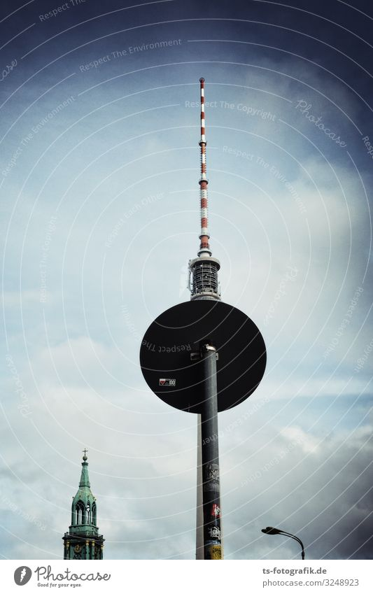 Berlin television tower plays hide and seek again Vacation & Travel Tourism Sightseeing City trip Technology Telecommunications Downtown Berlin Alexanderplatz